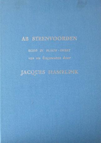 Hamelink, Jacques - Ab Steenvoorden Echo in blauw-zwart van zes fragmenten