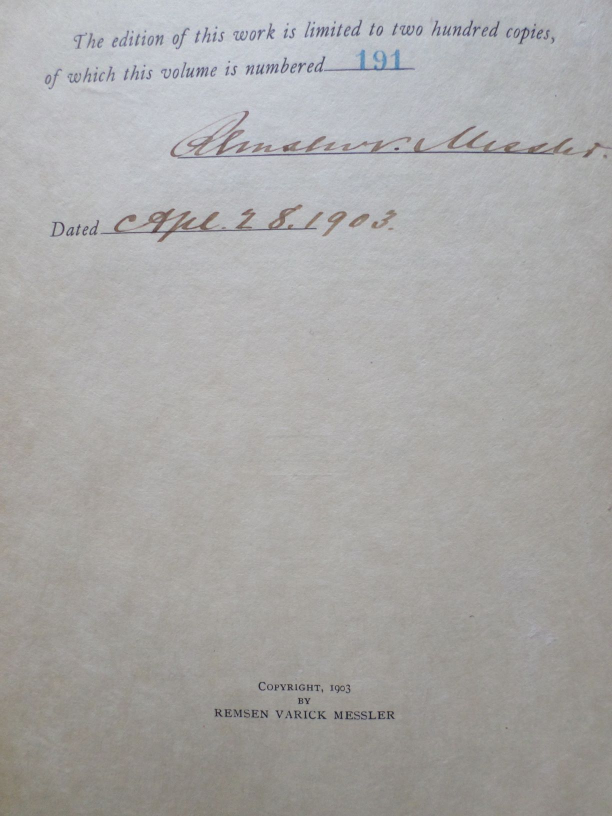 A genealogical record of Th...