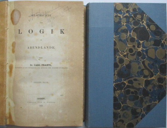 Prantl, C. - Geschichte Der Logik Im Abendlande. 2 Vols Vol 1 1855 Vol 2 1885 (2nd edition)